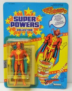 RED-TORNADO-Super-Powers-Action-Figure-Kenner-UNPUNCHED-23-Back-Rare-Foreign-pkg