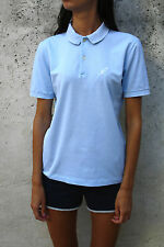 Australian VTG 80s  Made in Italy  polo Top Cotton Authentic Sky Blue 48 L Large
