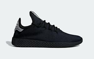 Promesa Florecer caja de cartón  adidas Pharrell Williams Tennis Hu Shoes in Black and Grey Knit Trainers |  eBay