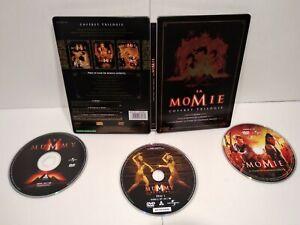 Trilogie-LA-MOMIE-Coffret-DVD-Steelbook-PAL-Zone-2-Complet-Tres-bon-etat