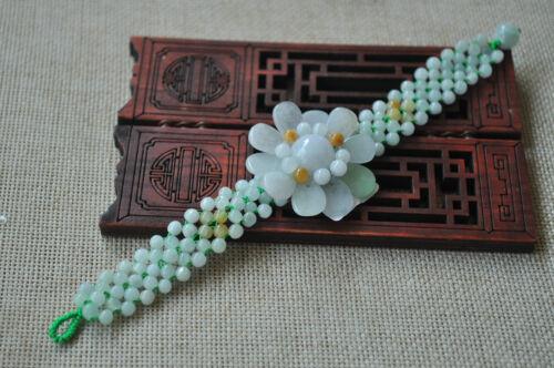 Certifié 100/% naturel UNE Emeraude Jade ~ Bracelet ont certificat