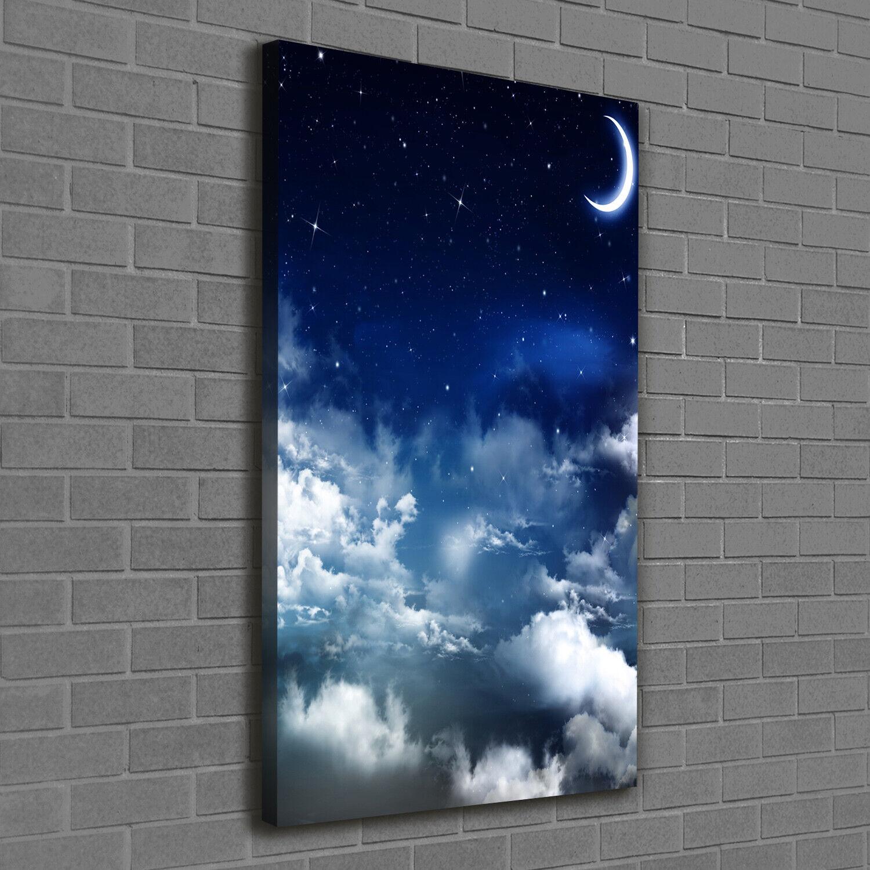 Leinwand-Bild Kunstdruck Hochformat 60x120 Bilder Sternenhimmel