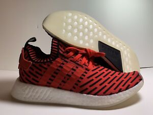 5006f1ab6 NEW MEN S ADIDAS NMD R2 CORE RED CORE BLACK FOOTWEAR WHITE BB2910 ...