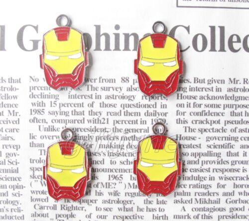 Lots Iron Man Head Metal Charms Jewelry Making À faire soi-même Pendentifs Boucles D/'oreilles JT331