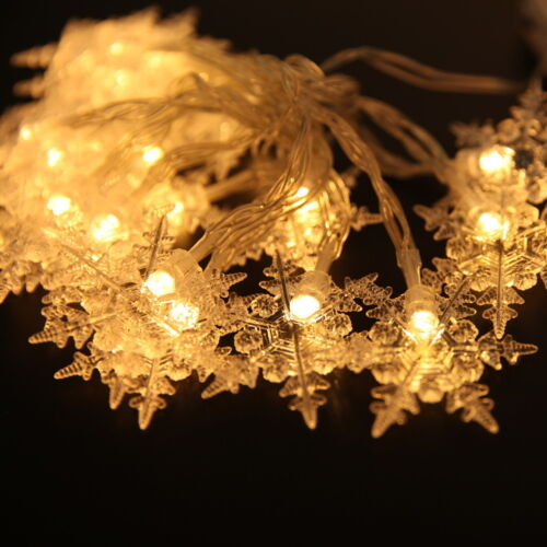 20 LED Best Snowflake Christmas Party String Fairy Lights Garland Xmas Lamp #L1
