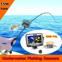 """4.3"""" Monitor Underwater Camera Ice/Sea/Boat Fish Finder 1000TVL Video Cam 15m"""