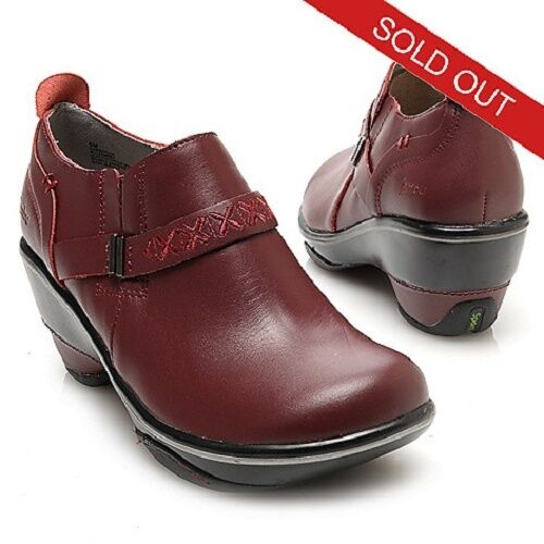 NIB JAMBU CAMBRIDGE LEATHER STRAP DETAILED DOUBLE Goruge SLIP ON CLOGS Taille 6M