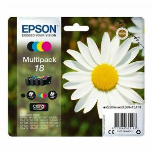 EPSON 18 Daisy GENUINE Multipack 4-pack ink Cartridges - Expiry Date 07/2023