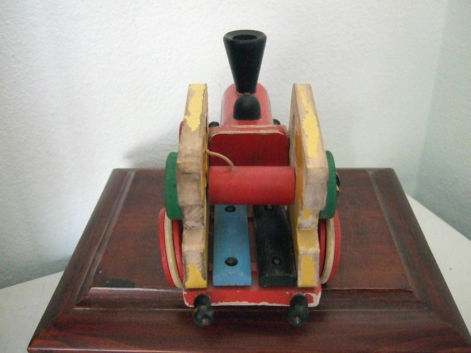 WOW  Brio vintage vintage vintage Wooden PULL TOY 1950's  musical  train engine RARE & RETIRED 307aec