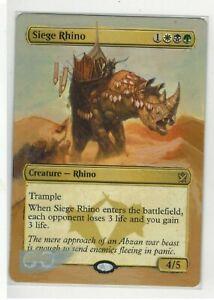 Siege-Rhino-Altered-Full-Art-MTG-Magic-Commander-2020-EDH-Gift-Birthday