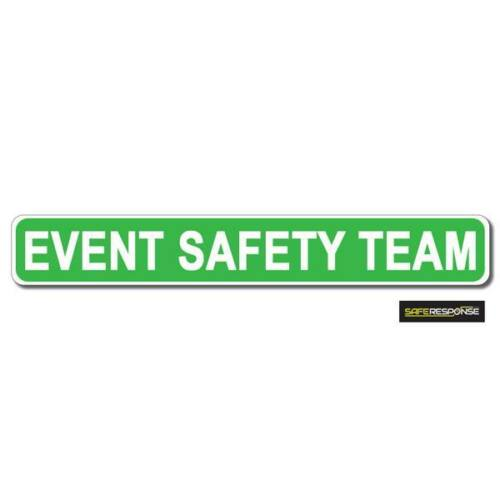 Magnetic sign EVENT SAFETY TEAM Green Background White text vehicle Magnet MG162