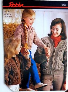 Robin Pattern for Aran Jackets sizes 2446034 - <span itemprop=availableAtOrFrom>Worthing, West Sussex, United Kingdom</span> - Robin Pattern for Aran Jackets sizes 2446034 - Worthing, West Sussex, United Kingdom