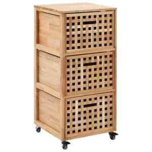 vidaXL-Solid-Walnut-Wood-Bathroom-Cabinet-with-Drawer-Natural-Wooden-Sideboard