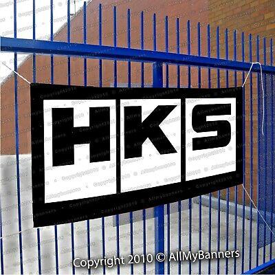 HKS Flag Banner Japanese Aftermarked Car Parts Garage ...