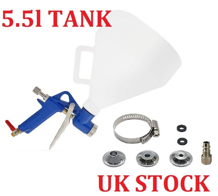 5.5L Texture Hopper Sprayer Air Operated Rendering Gun Silicone Tyrolean Wall UK