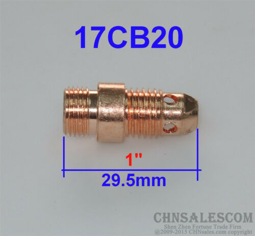 "5 pcs 17CB20 Short Collet Body Tig Welding Torch WP-17 WP-18 WP-26 1.0mm 0.040/"""
