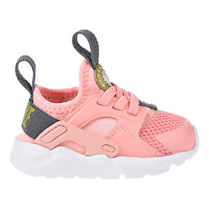 36f030ac4f2 Details about Nike Huarache Run Ultra Little Kids Shoe Bleached  Coral Metallic Gold 859595-600