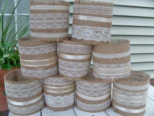 Rustic Wedding ivory DIY Wedding Decorations 12 Burlap Mason Jar Sleeves