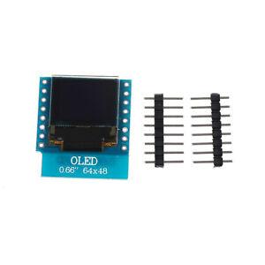 OLED-Shield-for-WeMos-D1-mini-0-66-034-inch-64X48-IIC-I2C-for-Arduino-Compatib-dPTH
