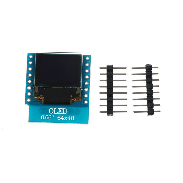 "OLED Shield for WeMos D1 Mini 0.66/"" inch 64X48 IIC I2C for Arduino Compatible"