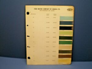 1958 FORD CANADA CAR COLOR CANADIAN PAINT CHIP DUPONT SAMPLES CHART