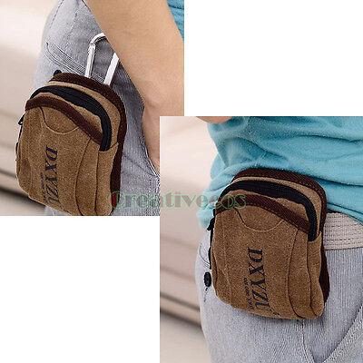 New Men's Canvas Hook Purse Hip/Bum/Waist Fanny Pack Pouch Cell/Mobile Phone Bag