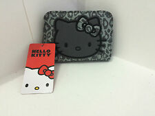 NWT SANRIO HELLO KITTY LOUNGEFLY LEOPARD PRINT GRAY BIFOLD BILLFOLD WALLET PURSE