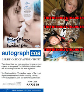 LEA-SEYDOUX-signed-034-BLUE-IS-THE-WARMEST-COLOR-034-8X10-PHOTO-PROOF-ACOA-COA