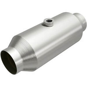 "Magnaflow 54055 High-Flow Catalytic Converter Round 2.25/"" In//Out w// O2 Port"