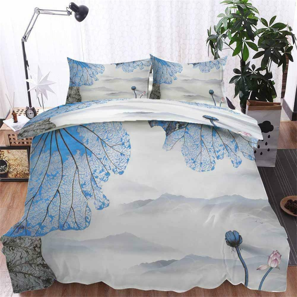 Blau Thin Wings 3D Printing Duvet Quilt Doona Covers Pillow Case Bedding Sets