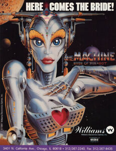 The-Machine-Bride-Of-Pinbot-Pinball-FLYER-1991-NOS-Original-Williams-Robot-Art