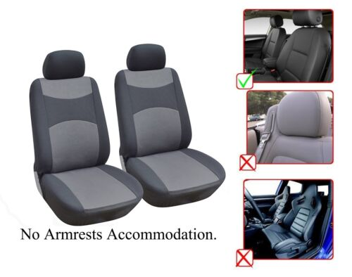 M1410 Grey 2 Front Bucket Fabric Car Seat Cover Compatible For Mercedes-Benz