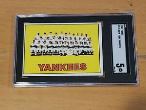 1967 Topps #131 New York Yankees SGC 5 Newly Graded & Labelled