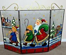 Christmas decoration New  63cm Santa//Snowman Fire Guard