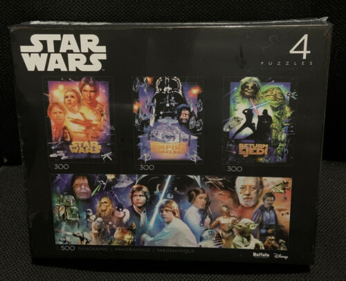 Details about  /DISNEY STAR WARS 4 PUZZLES PACK OF 3 X 300 PCS AND 1 X 500 PCS