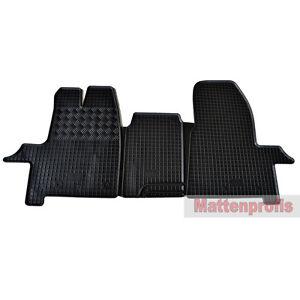 Premium Velour Fußmatten für Ford Transit Custom 3-Sitzer ab Bj.12//2012-2015