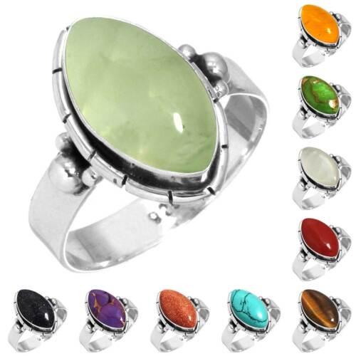 925 Sterling Silver Gemstone Ring Women Jewelry Size 5 6 7 8 9 10 11 12 13 rH651