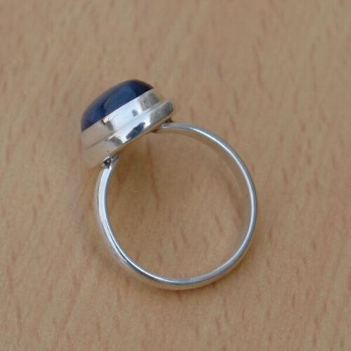 Details about  /beautiful gemstone blue kyanite handmade ring 925 sterling silver kyanite ring