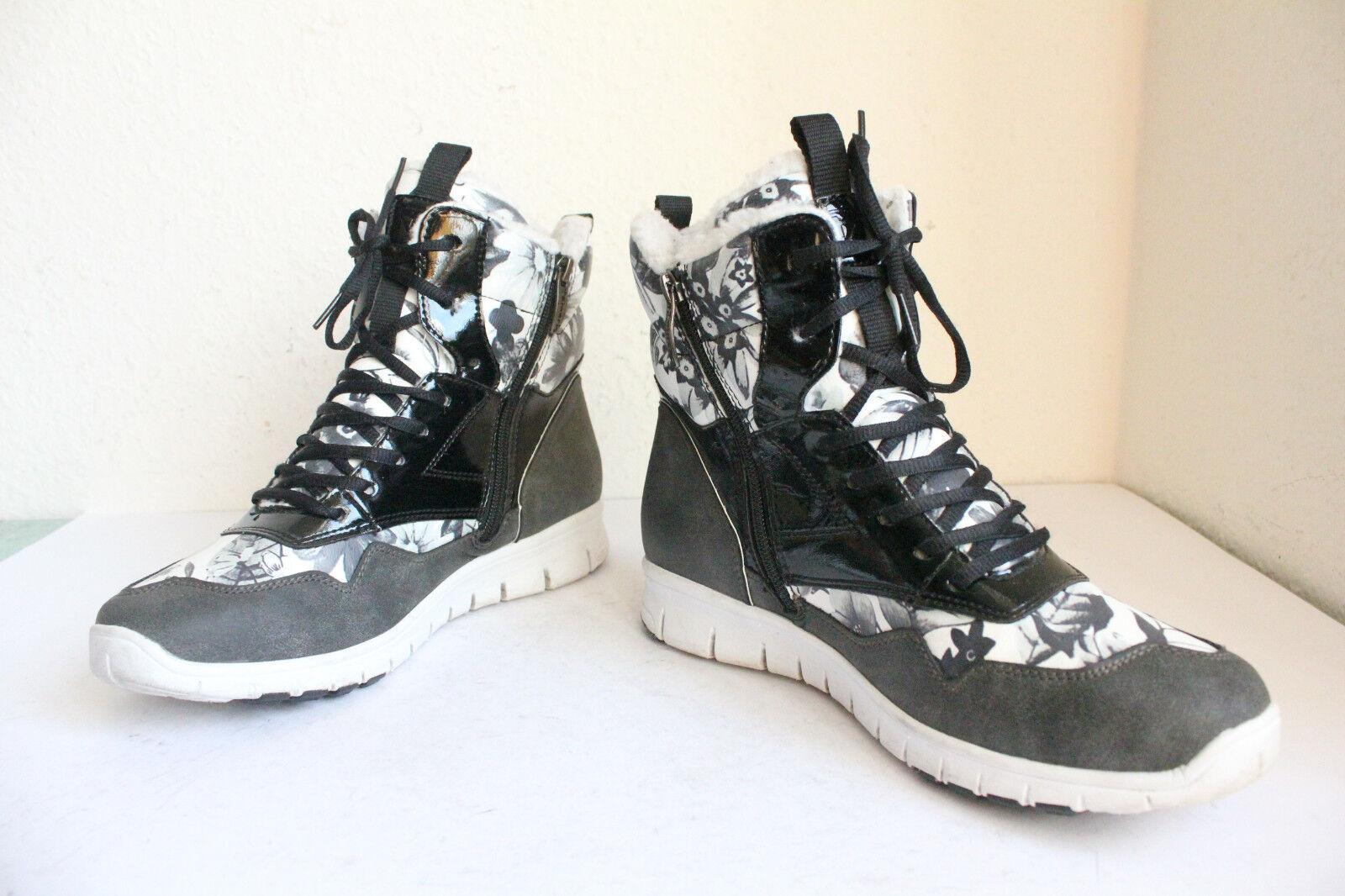 Tamaris Winter Mode High-Top Sneakers Schnürstiefeletten Textil Mehrfarbig:Eu:42