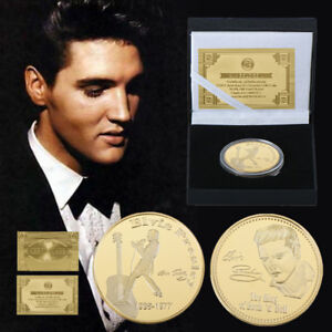 WR-Elvis-Presley-Gold-Foil-Signed-Memorabilia-GOLD-Coin-Birthday-Gift-Box
