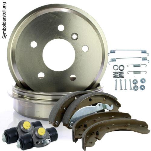 Bremsbacken Montagesatz für Peugeot Radbremszylinder 2 Bremstrommeln