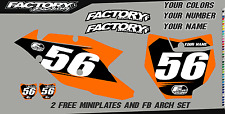 KTM EXC XC XCF 2017 Pre Printed Number plate Backgrounds BASIC SERIES