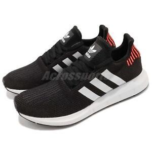 brand new 44b6f 57cfb Image is loading adidas-Originals-Swift-Run-Black-White-Men-Running-