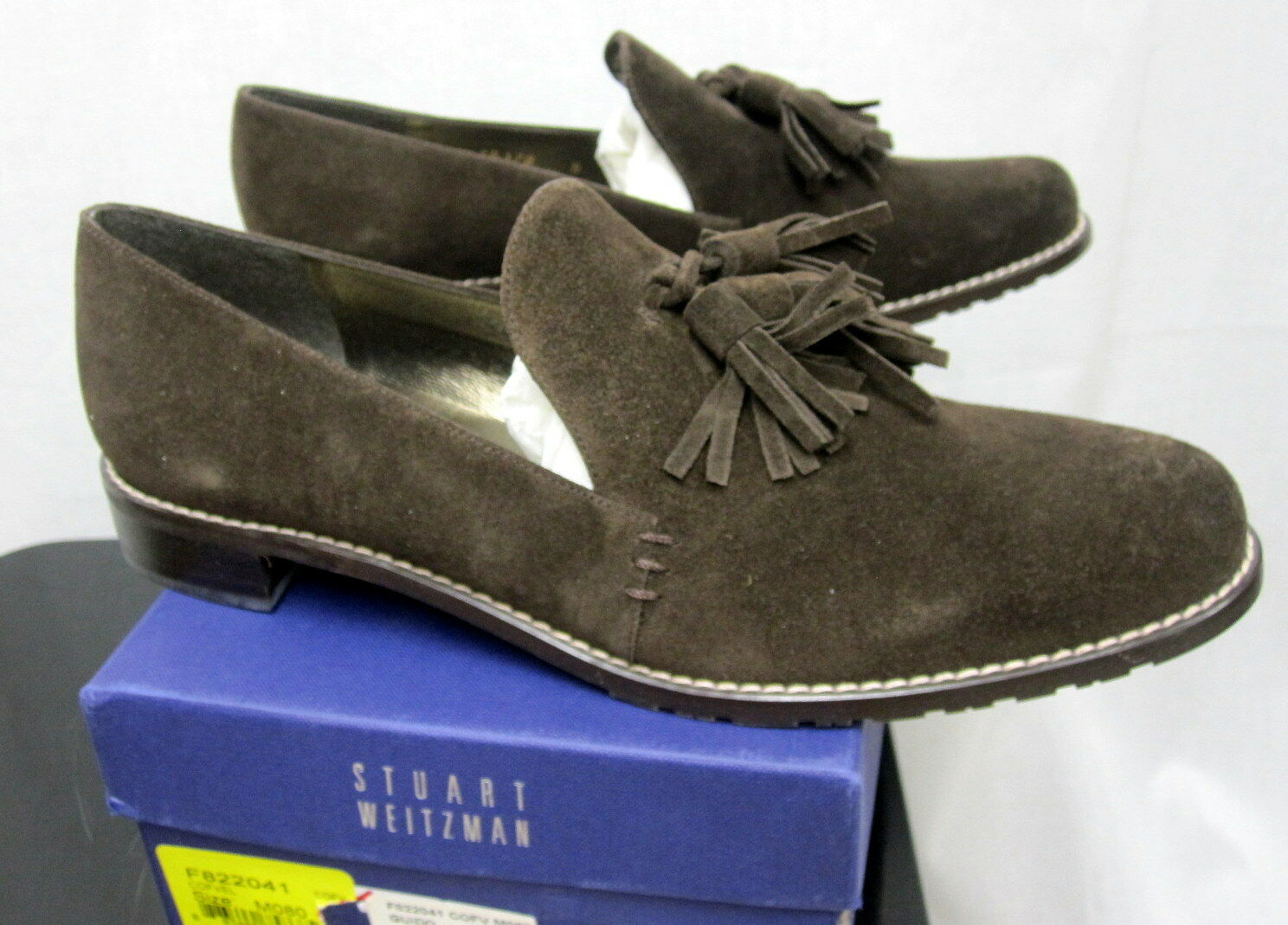 Stuart Weitzman Nuevo Con Etiquetas Y Caja Vel Café Vel Caja gamuza marrón zapatos España Talla 8 Rt 365 cab72c