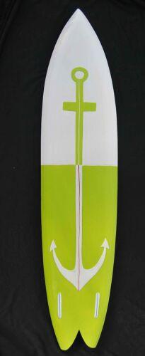 Surfbrett im Mare Design zum Aufhängen Surfboard Meer Holzschild Anker Dek