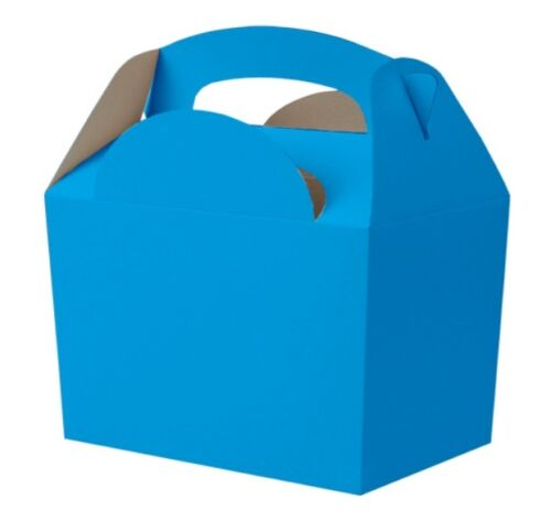 100 Bright Blue Party Meal Boxes Birthday Lunch Food Snack Gift Loot Bag Box