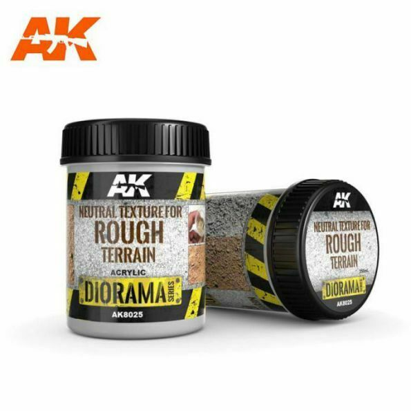 AK Interactive Neutre Texture Pour Rough Terrain 250ml AK8025 Paysage Rocky