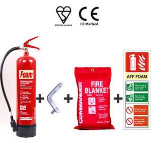 NEW-3-LTR-FOAM-FIRE-EXTINGUISHER-BRACKET-BLANKET-SIGN