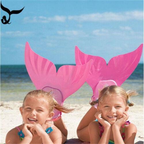 Kids Children Fin Mermaid Monofin Tail Flipper Swimwear Tool for Swimming Pool A