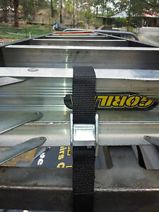 Tie Down Roof Rack Straps 6 X 3mtrs Long Ladder Strap